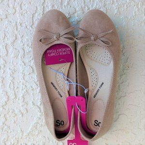 SO Taupe Ballet Flats 6 (NWT)